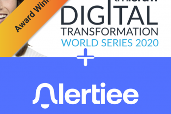 Alertiee winner of digital transformation team award