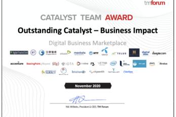 Alertiee team wins Catalyst Team Award at Digital Transformation World Series 2020