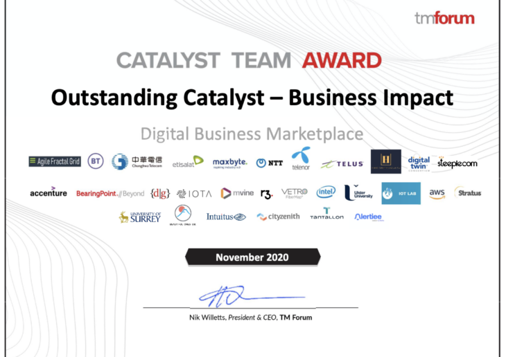 Alertiee team wins Catalyst Team Award at Digital Transformation World Series 2020
